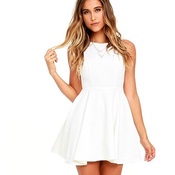 980a5789e3 Lulu s White Skater Dress